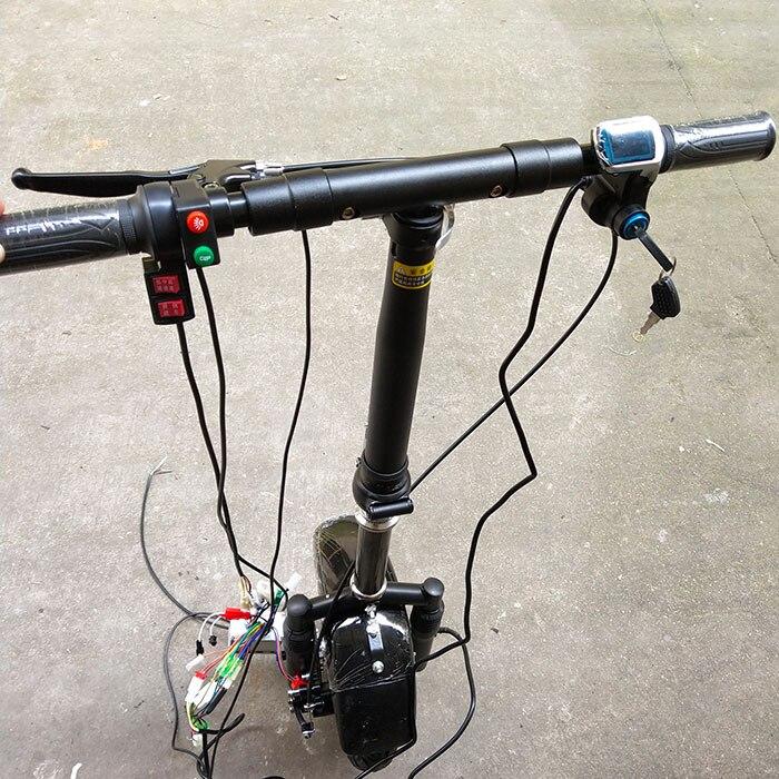 36 V 350 W électrique Handcycle pliant fauteuil roulant pièce jointe vélo bricolage kit de Conversion de fauteuil roulant