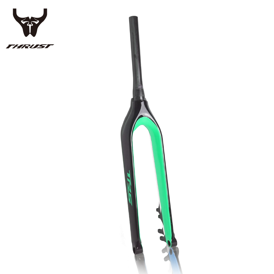 carbon rigid fork mountain bike disc brake 27.5er bicycle bike carbon fork 29 tapered 15mm/9mm red green white blue yellow