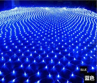 220V Multicolour 200LEDS 2M 3cm LED Net String Xmas Cristmas Decoration Lights Free Shipping