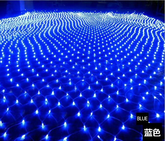 220V Multicolour 200LEDS 2M*3cm LED Net String Xmas Cristmas - Holiday Lighting