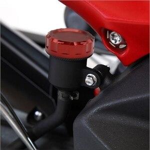 Image 5 - אופנוע אלומיניום אחורי בלם מאסטר צילינדר מאגר כיסוי בלם נוזל כובע עבור ימאהה MT07 MT 07 MT 07 FZ 07 FZ07 2014 2018
