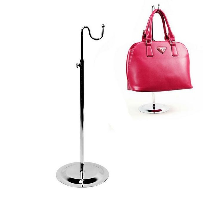 Coat Racks Living Room Furniture Silver Black Double Hook Women Bag Display Rack Holder Adjustable Wig/silk Scarf/purse/handbag Display Stand Metal Baking Paint