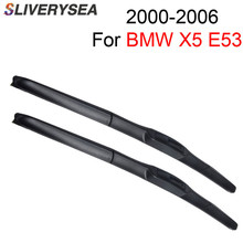 SLIVERYSEA Wiper Blade for BMW X5 E53 2000 2001 2002 2003 2004 2005 2006 Pair 24+22 Windshield Wiper Auto Car Accessories 27 27 pair windscreen wiper blades for mercedes benz s class w220 2001 2002 2003 2004 2005 windshield car accessories