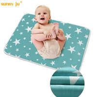60 75 CM Baby Cartoon Reusable Matelas Infant Cover Bedding Nappy Burp Mattress Waterproof Sheet Diapering