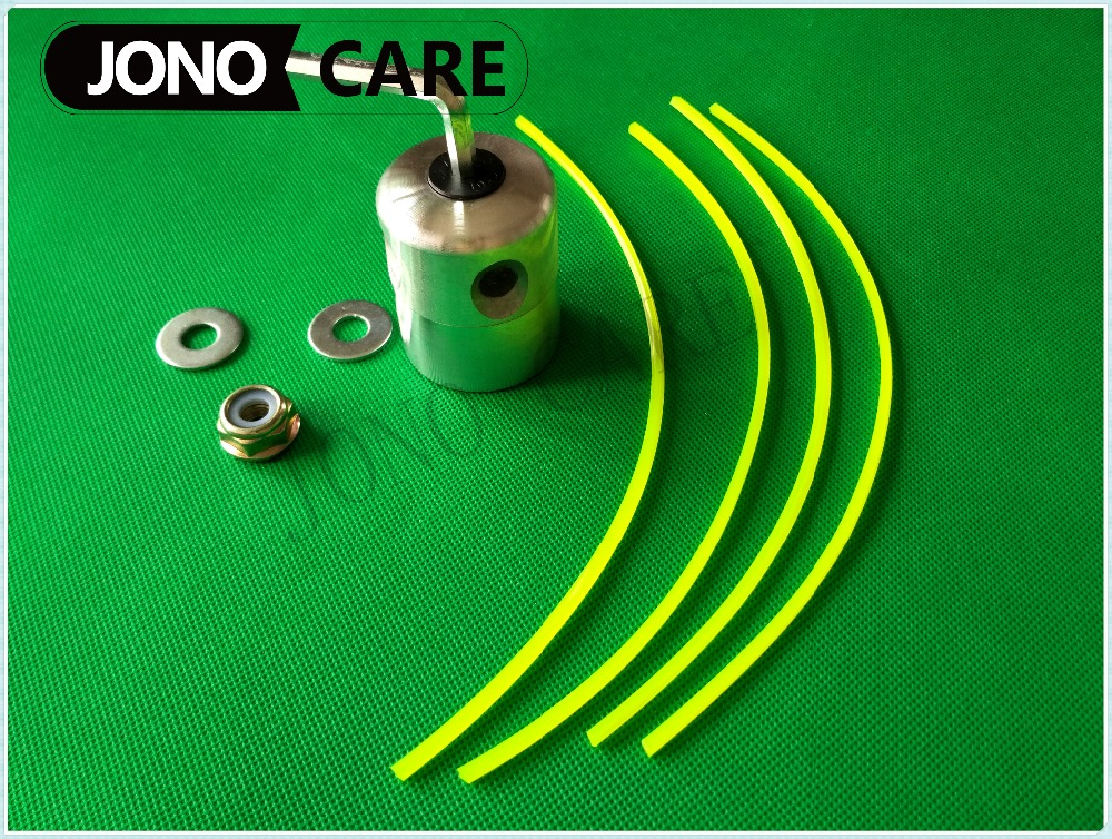 4 Nylon Line Strimmer Alu Weed Trimmer Head with Gear Case Nut M10*1.25 Left Hand Blade Nut For Grass Brush cutter spare parts t a m 10 alu silver