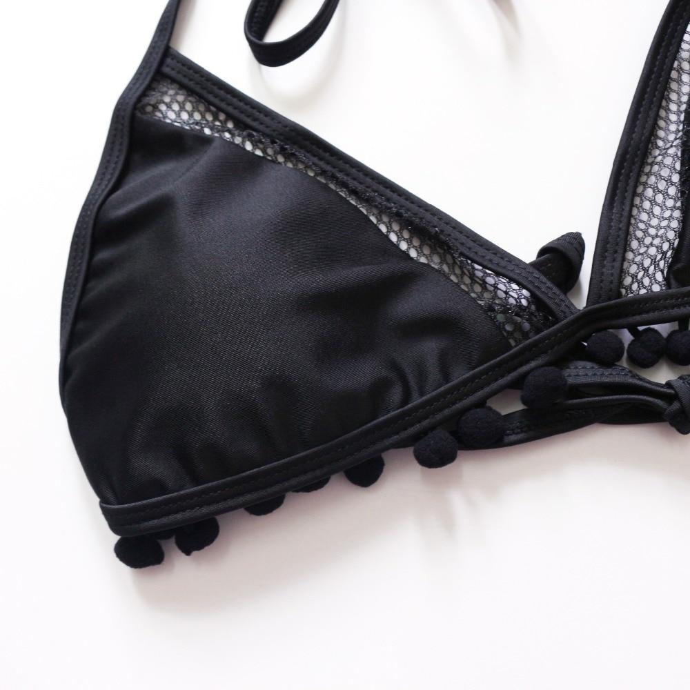 HTB1HtOCQNTpK1RjSZFMq6zG VXaH 2019 Sexy Halter Retro Mesh Hollow Out String Biquini Bathing Suit Female Swimsuit High Waist Plus Size Swimwear Women Bikini