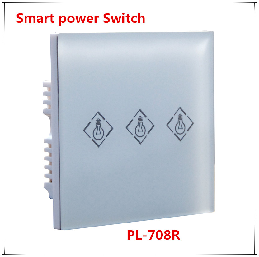 Hot Wireless Electrical Power Switch Light Switch works with ST-IIIB and ST-VGT all focus alarm system 433mhz wirless emergency panic button indoor wall mounting works with st iiib and st vgt focus series alarm system