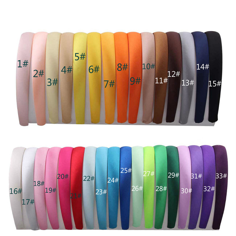 1 1 5 2 2 8cm Satin Headbands Girl Hair Hoop DIY Christmas Headwear Multicolor Hairband Women Plastic ABS Hair Accessories in Christmas Headbands from Home Garden