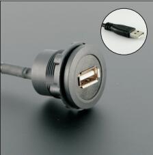 Otwór 22mm zainstaluj złącze USB/gniazdo USB żeńskie a-męskie A z przedłużaczem (60cm 150cm 200cm)