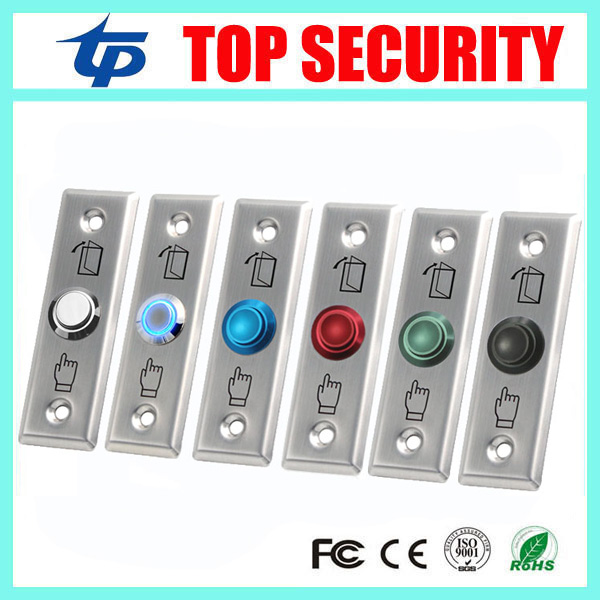 NO/NC/COM Stainless Steel Switch LED light Exit Button Several Colors Exit Switch Door Button For Access Control System lpsecurity stainless steel door access control led backlit led illuminated push button door lock release exit button switch