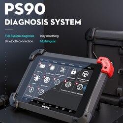 Оригинальный XTOOL PS90 автомобильный OBD2 автомобильный диагностический инструмент пожизненное онлайн обновление кода читатель ключ программи...