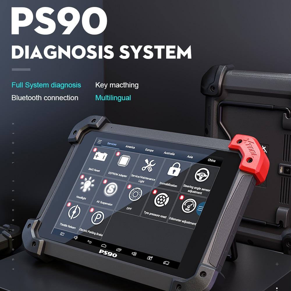 Original XTOOL PS90 Automotive OBD2 Car Diagnosis Tool Lifetime Online Update Code Reader Key Programmer Odometer EZ500 EZ400