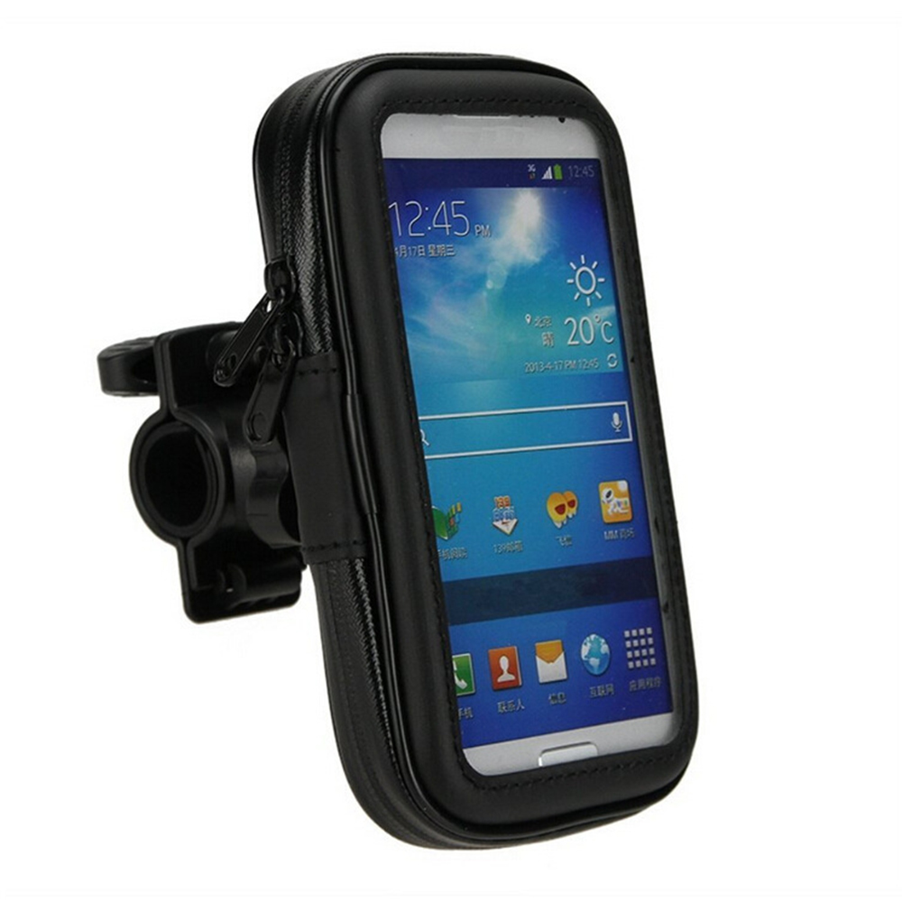 Image 5 - Bicycle Motorcycle Phone Holder telephone Support For Moto Stand Bag For Iphone X 8 Plus SE S9 GPS Bike Holder Waterproof Cover-in Side Mirrors & Accessories from Automobiles & Motorcycles