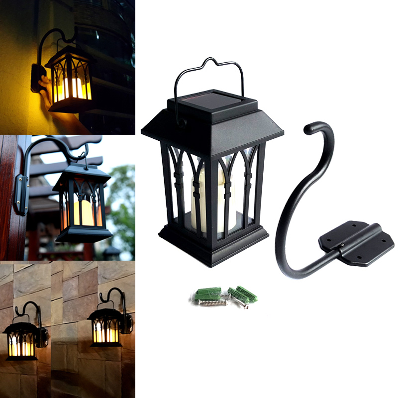 Outdoor Solar Power LED Candle Light Yard Garden Decor Tree Palace Lantern Light Hanging Wall Lamp CLH@8 кронштейн mart 101s черный для 10 26 настенный от стены 18мм vesa 100x100 до 25кг