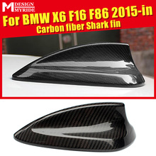X6 F16 Carbon Fiber Roof Antenna Shark Fin Cover Decoration For BMW X6 F16 F86 X6M X5 F15 X5M 2015-in Carbon Fiber Antenna Cover цена 2017
