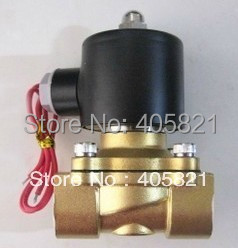 G1/2'' All Brass Solenoid Valve Normally Closed Water Air Oil 2W160-15 NBR DC12V DC24V AC110V AC220V AC380V 1 2 built side inlet floating ball valve automatic water level control valve for water tank f water tank water tower