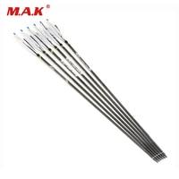 6/12/24pcs Carbon Arrows Archery 31 Turkey Feathers 7.5mm Spine 500 Change Arrowhead For Compound Bow Arrow