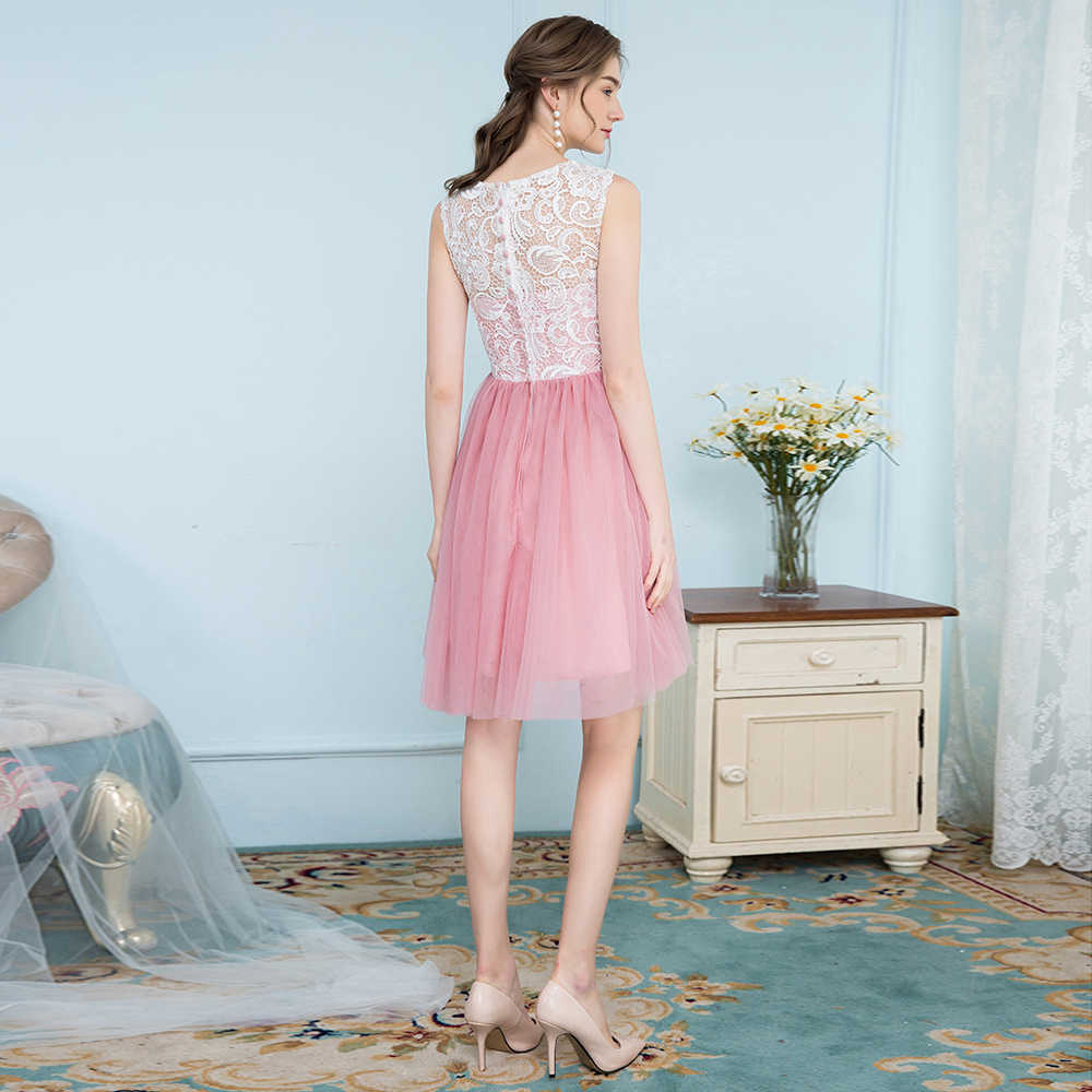 ... BeryLove Short Blush Pink Homecoming Dresses 2018 Mini Lace Homecoming  Dress Graduation Gowns Cocktail Party Dresses ... d7ce67306271