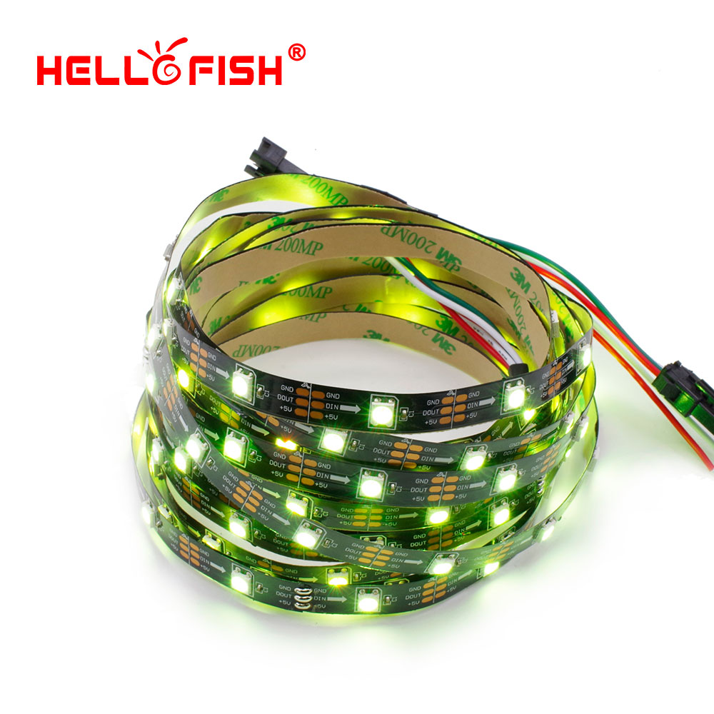 US $9 35  1M Built in WS2812 LED strip 30 LED 30 pixels Pixel matrix  Arduino Display DIY led strip HELLO FISH -in LED Strips from Lights &  Lighting on