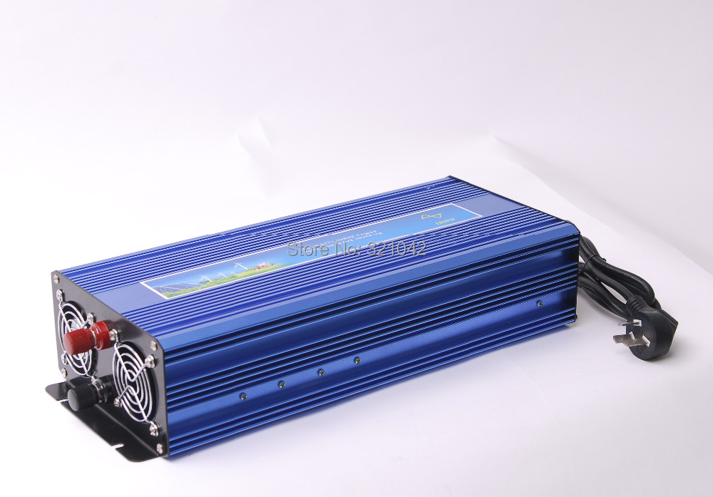 Pure Sine Wave Inverter 1000W DC12V to AC220V with battery charging Function peak power 2000W UPS inverter
