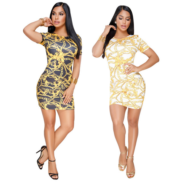 Summer Plus Size 2019 Hot Vestidos Women African Print Sexy Club Wear  Office Casual Short Dress Party Bodycon Dresses Vestido a2c0eb779be4