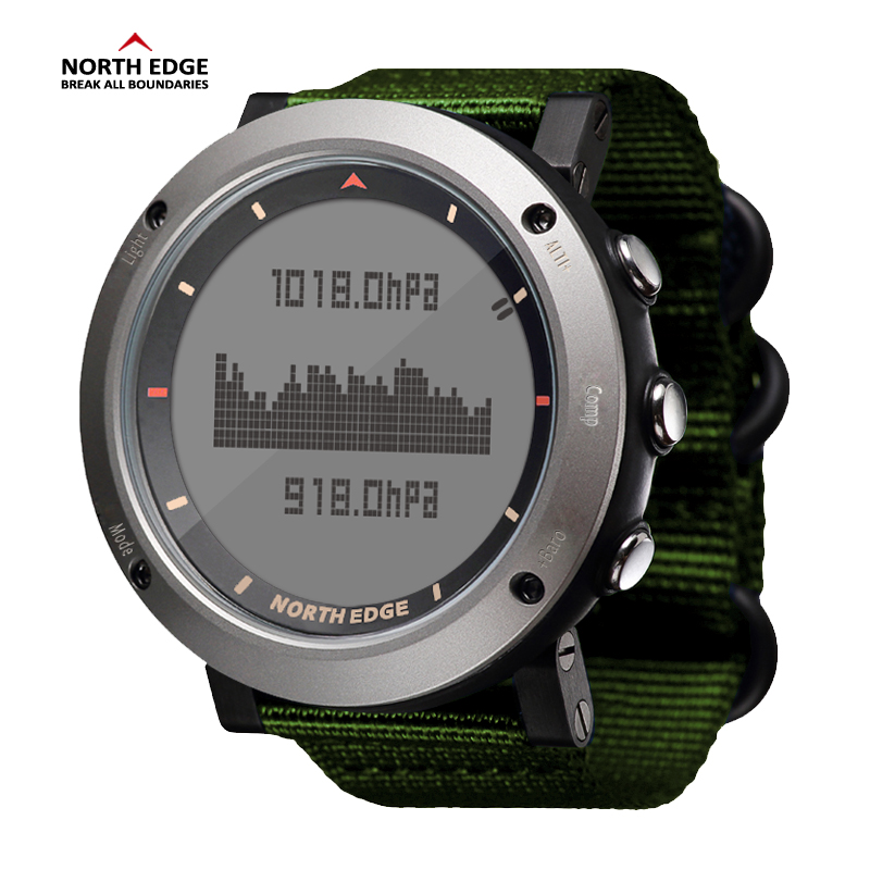 NORTH EDGE Men Sport Watch Altimeter Barometer Compass Thermometer Pedometer Calorie Hand Clock Digital Watches Running Climbing north edge men sports watch altimeter barometer compass thermometer pedometer calories watches digital running climbing watch