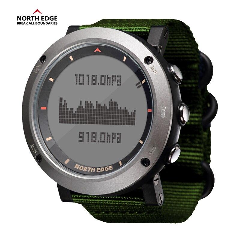 NORTH EDGE hommes Sport montre altimètre baromètre boussole thermomètre podomètre calories horloge à main montres numériques course escalade