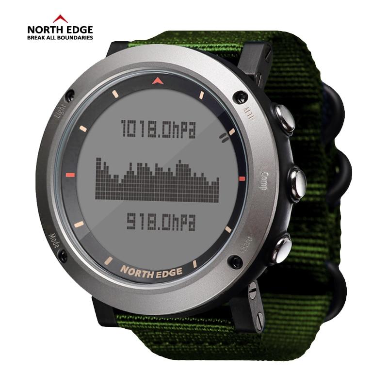 Północnej krawędzi mężczyźni Sport zegarek barometr wysokościomierz kompas termometr krokomierz kalorii ręka zegar zegarki cyfrowe do biegania wspinaczka w Zegarki cyfrowe od Zegarki na  Grupa 1