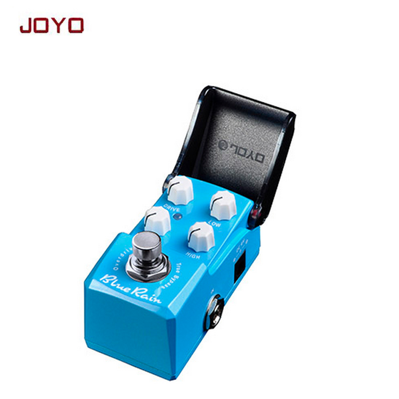 Free shipping JOYO JF-311 Blue Rain New Product Mini guitar Effect Pedal warm and comfy overdrive best for solo ture bypass mooer ensemble queen bass chorus effect pedal mini guitar effects true bypass with free connector and footswitch topper