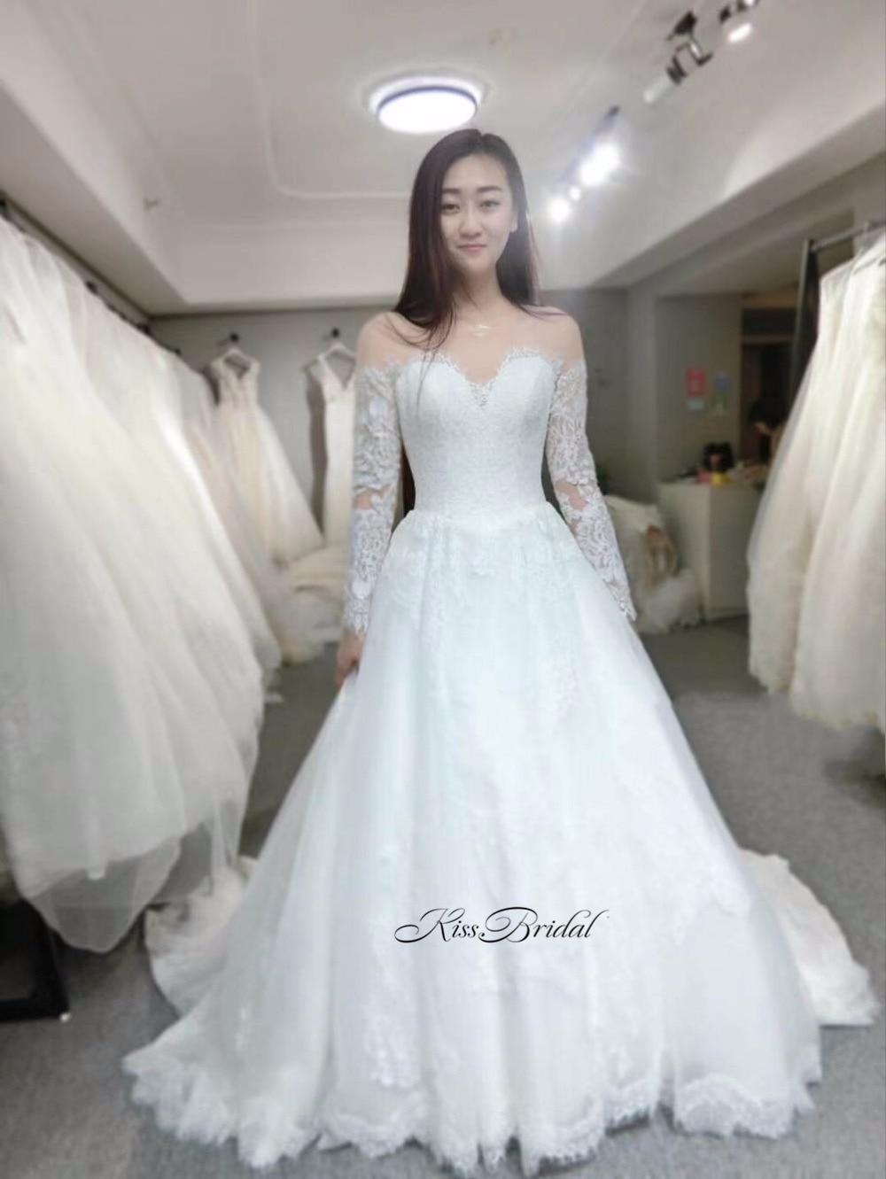 Vintage Lace Wedding Dresses Long Sleeve robe de mariage Elegant ...