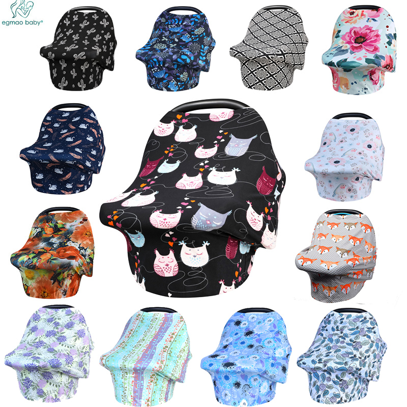 Newborn Baby Nursing Cover Printed ,Shopping Cart, High Chair, Car Seat Canopy,Multi Use Breastfeeding Cover Up Stroller Carseat baby car seat cover canopy nursing cover multi use stretchy infinity scarf breastfeeding shopping cart cover high chair cover