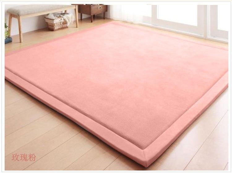 Nouveau 2 CM épais tapis de jeu corail polaire couverture tapis enfants bébé ramper tatami tapis coussin matelas pour chambre - 3