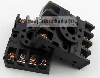 Relay Base Socket,Power Relay Base Socket 8 Pins Relay Base Relay Base for MK2P Relay Base PF083A 8 Pins Power Relay Base Socket for MK2P AH3 Time Relay