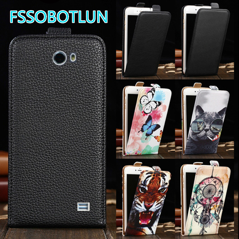 Factory direct! For Fly IQ456 ERA Life 2 Cartoon Painting vertical phone cover bag flip up and down PU Leather Case