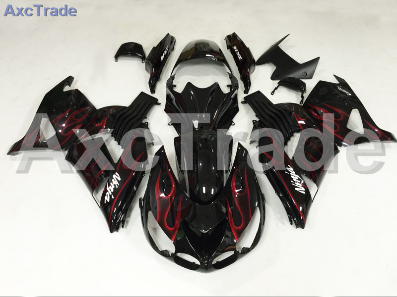 Motorcycle Fairings For Kawasaki Ninja ZX14R ZX-14R ZZ-R1400 ZZR1400 2006 2007 2008 2009 2010 2011 ABS Plastic Injection Fairing black moto fairing kit for kawasaki ninja zx14r zx 14r zz r1400 zzr1400 2006 2007 2008 2009 2010 2011 fairings custom made c549