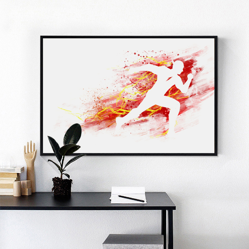 Us 2 69 45 Off Splash Movie Flash Canvas Painting Art Print Poster Picture Wall Paintings Child Bedroom Decoration Mural In Painting Calligraphy