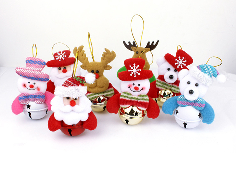 Present box with christmas decoration and santa claus hat stock