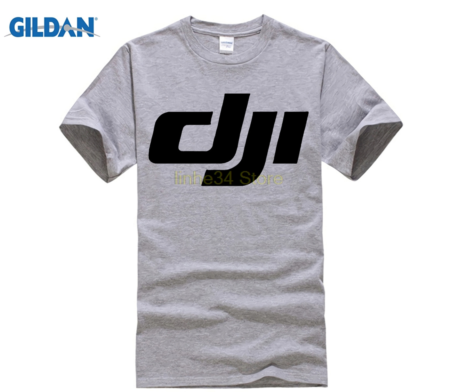 Fashion Dji Phantom T Shirt 2 Side Black White Funny Brand O Neck Cotton T Shirt Tees Print Shirts