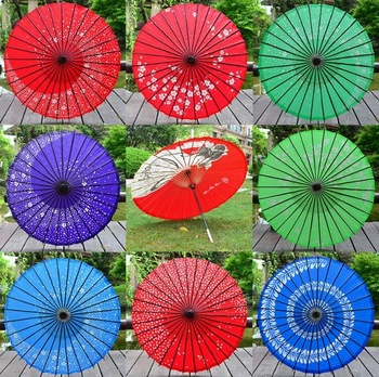 5PCS PoeticExst New long-straight traditional Japanese vintage craft umbrellas Wedding decoration paper parasols
