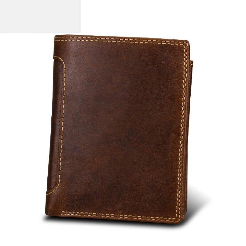 Hot burst mens multi-functional short paragraph f wallet retro card vertical section card bit zipper buckle wallet