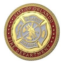 Поставка золотого покрытия, город Orlando, пожарный отдел, монета/медаль 1343