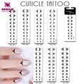 Alta Calidad 8 Diseño Cutícula Tatuajes 20X Encajes Falso Tatuaje Temporal A Prueba de agua Muchacha de Las Mujeres de La Decoración Del Arte Del Clavo en el Dedo