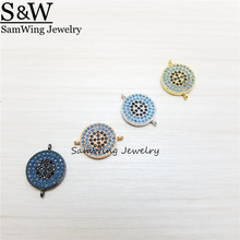 10 pcs Antigo Minúsculo olho Turco Conectores Charme Pendant Jewelry Making Achados Acessórios DIY Handmade Artesanato