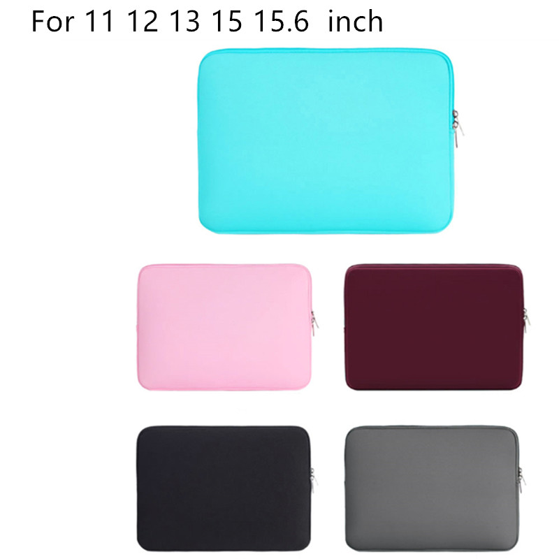 5 colors Laptop Protective Sleeve Case Zipper Bags For apple Macbook Air Pro 11 12 13 15 15.6 Computer cover Laptop Bag