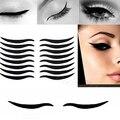 Nueva llegada! 80 Pares Sexy Impresionante Eyeliner Eyeshadow Pegatinas Muchacha de Las Mujeres de Cosméticos de Maquillaje de Ojos