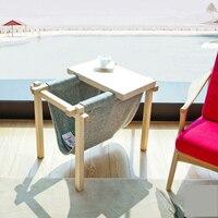 Manchurian Ash Wood Wood Tea Table Computer Desk Bookshelf A Folding Wood Tea Table Multi Functional