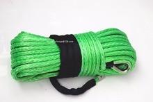 Зеленый 16 мм * 40 м синтетический трос лебедки, ATV трос лебедки, Буксировочные тросы для лебедки аксессуары, 4×4 внедорожных буксировочный кабель