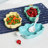 Hot Sale colorful Kids Ceramic Christmas Tree Bowl Fruit Salad Bowl Solid Cartoon Tree Shape Rice Bowl Ice Cream Bowl 1pcs/ set