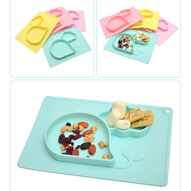 Children's Whale Shaped Silicone Plate