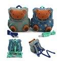 3D Urso Dos Desenhos Animados Da Criança Do Bebê Anti perdido Mochila Trela Arnês Infantil do jardim de Infância Schoolbag Backpack Strap Walker para Adolescente
